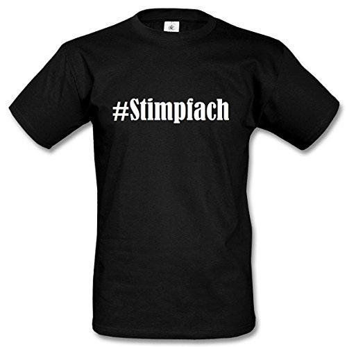 T-Shirt #Stimpfach Hashtag Raute für Damen Herren und Kinder ... in den Farben Schwarz und Weiss Schwarz