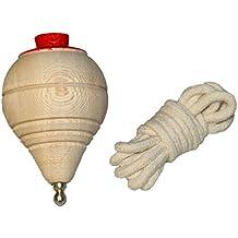 Peonza de madera clásica con cuerda