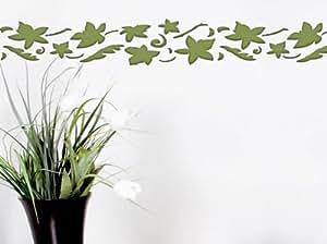 Pochoir Motif feuilles (plastique) 60x 21cm Hauteur 14cm