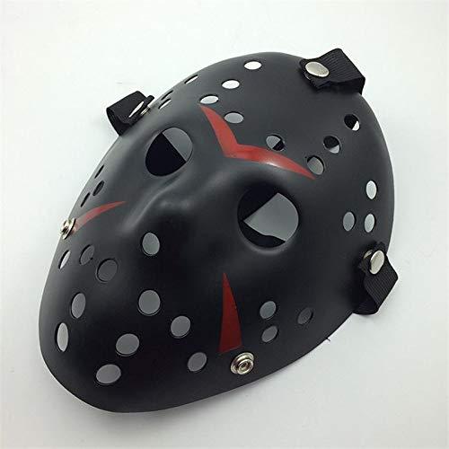 Romison Creative Unqiue Horror Cosplay Kost¨¹m Halloween Maske Maskerade Gruselmaske Vernichter Maske Requisiten, rot/schwarz, 24 * 17 * 9cm (Maskerade Und Maske Rote Schwarze)