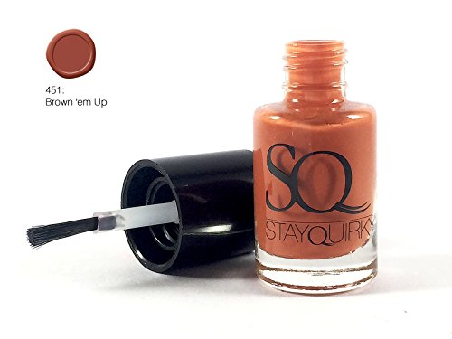 Stay Quirky Nail Polish, Brown \'Em Up 451, 6ml