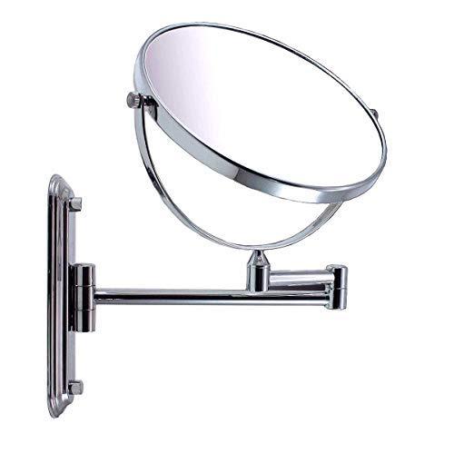 Luxus Kosmetikspiegel Schminkspiegel Wandspiegel mit Wandhalterung verchromt +3Fach