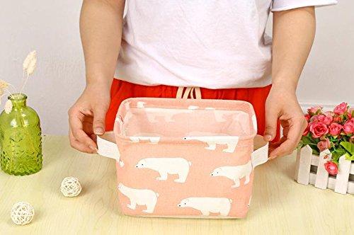fablcrew almacenamiento cesta impermeable plegable almacenamiento bin organizador titular de almacenamiento de escritorio papelería
