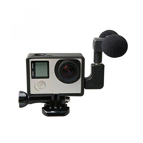 Skeleton-gehäuse Hero 2 (Balai Mic Mikrofon Kit mit Schutz Skeleton Gehäuse Frame für GoPro Hero 3 3+ 4 Sport Action Video Kamera Schwarz)