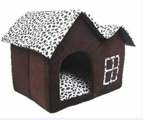 LQZ-Big Il Pet Kennel dot doppia superiore per mantenere in caldo e creativo pet cat gatto di casa Wo