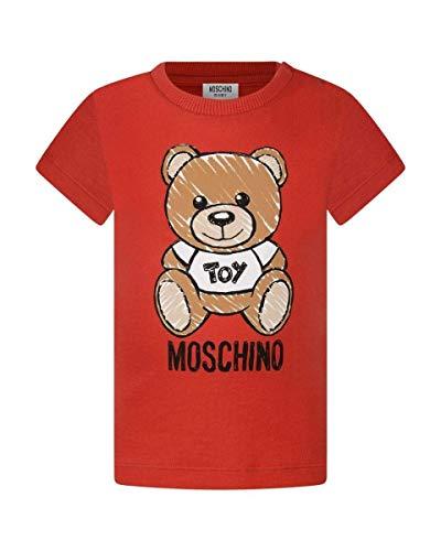 Moschino t-shirt bimbo/a in cotone, 3/6 mesi, rosso
