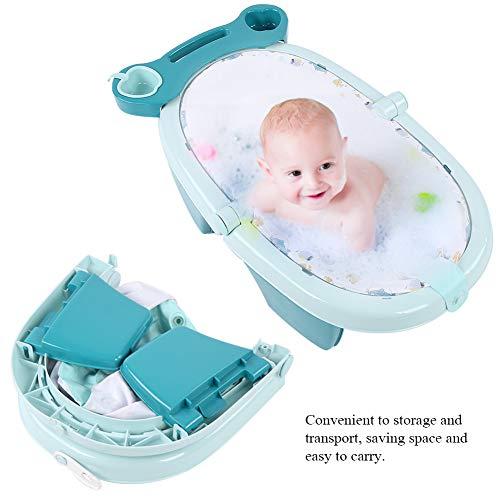 EBTOOLS Bañera de Bebé Inflable, Bañera Infantil Hinchable Plegable, Bañera de Nadando Baño Portátil Piscina Ducha, No Tóxico e Inodoro, Azul