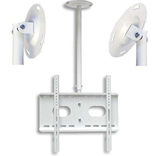 M&G Techno® Germany Design weiße UNIVERSELLE TV AUSZIEHBARE DECKEN HALTERUNG L2-PA-W, auch für DACHSCHRÄGE