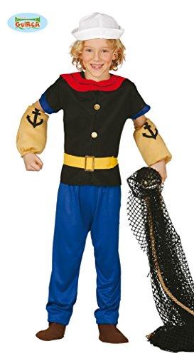 stüm für Kinder Gr. 110 - 146, Größe:110/116 (Halloween-kostüm Popeye)