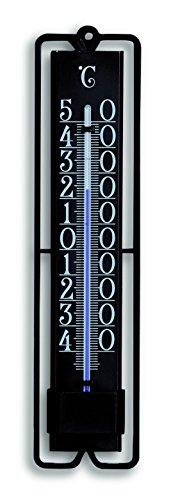 Galleria fotografica TFA 12,3000.01-Termometro da interno ed esterno in plastica, colore: nero