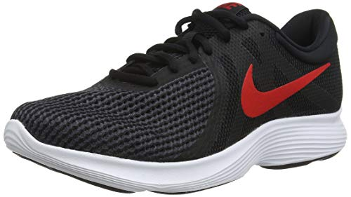 Nike Revolution 4 EU, Scarpe Running Uomo, Multicolore (Black/University Red/Oil Grey/White 061), 42