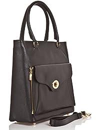 710e245d3a380 Abverkauf - Lagerräumung - Italienische Lederhandtasche - Henkeltasche  Zürich in schwarz
