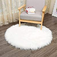 Faux Fur Sheepskin Style Rug (60 x 90 cm) Faux Fleece Chair Cover Seat Pad Soft Fluffy Shaggy Area Rugs For Bedroom Sofa Floor by KAIHONG