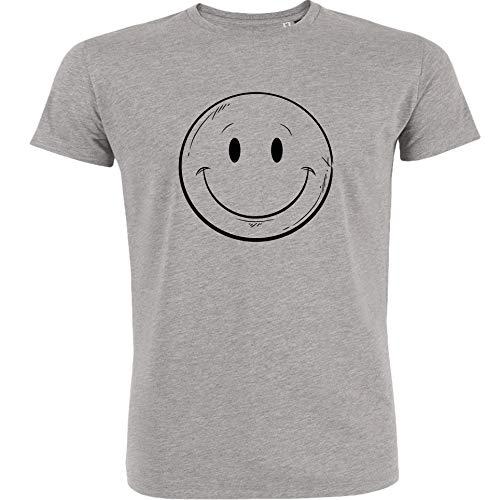 Redshirt Herren T-Shirt, Nice Smiley, Bio-Baumwolle, Fair gehandelt (XL, Heather Gray) -