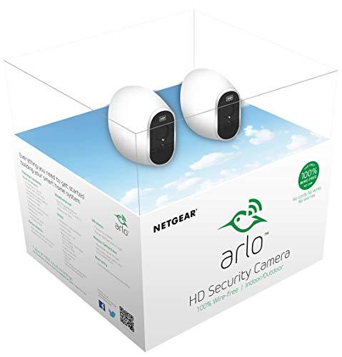 Arlo VMS3230 Sistema di Videosorveglianza Wifi con Due Telecamere di Sicurezza senza Fili a Batteria, Hd, Visione Notturna, Interno/Esterno, App Android & Ios, Funziona con Alexa e Google Wifi - 8