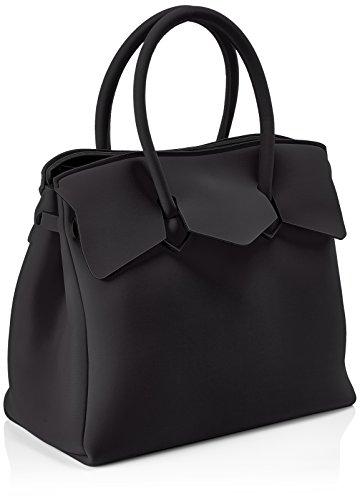 save my bag Miss 3/4, Borsa a Mano Donna, 39.5x34x19 cm (W x H x L) Nero