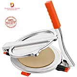 Dharam Paul Traders™ Stainless Steel chapati Puri poori Press Presser Maker Machine Large for Kitchen Nearly 7 inches.Color May Vary.