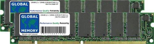 GLOBAL MEMORY 256MB (2 x 128MB) PC66 66MHz 168-PIN SDRAM DIMM ARBEITSSPEICHER RAM KIT FÜR PC DESKTOPS/MAINBOARDS -