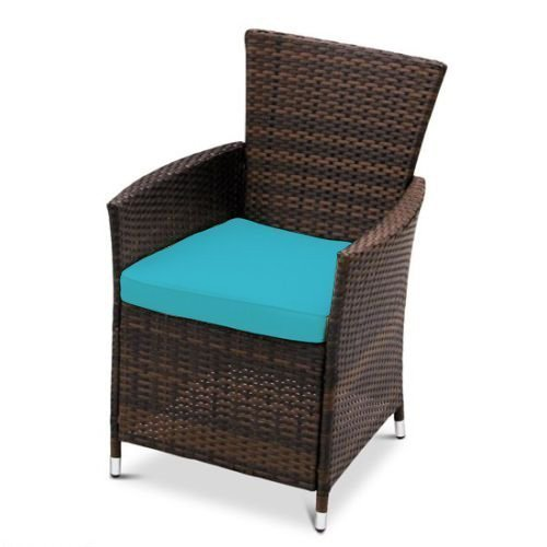 turquoise replacement seat cushion for garden rattan chair