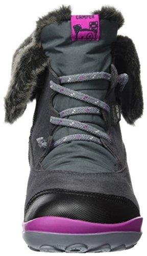 Camper Peu Pista, Chaussures Bateau Fille Gris (Dark Gray 004)