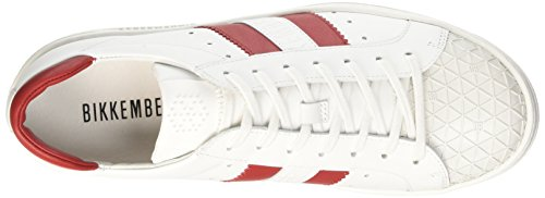 BIKKEMBERGS Herren Bounce 588 L.Shoe M Leather Durchgängies Plateau Pumps, Blau Elfenbein (White/Red)