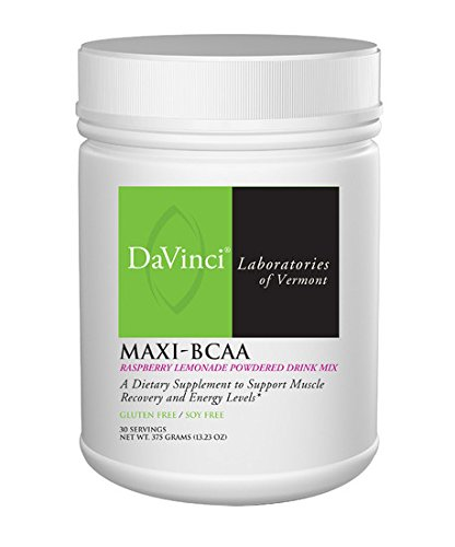 Powdered Drink Mix (DaVinci Laboratories - MAXI BCAA - 12.5 g / 30 Servings - After Workout and Recovery Raspberry Lemonade Powdered Drink Mix)