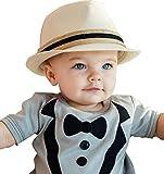 Ruffle Butts Frollein Idell stylischer Sommer Hut Sommerhut Natur Babyhut – Boy