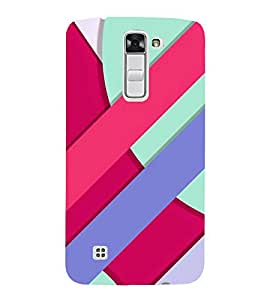 PrintVisa Simple Line Pattern 3D Hard Polycarbonate Designer Back Case Cover for LG K10 :: LG K10 Dual SIM :: LG K10 K420N K430DS K430DSF K430DSY