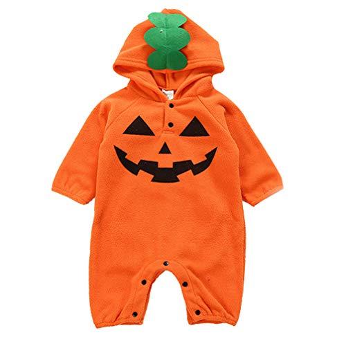 Bodies Calabaza Disfraz Halloween para Bebé Niños Niñas, Mono para