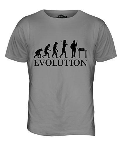 CandyMix Cb Funk Evolution Des Menschen Herren T Shirt Hellgrau