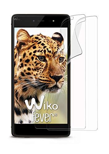 moex 2X Wiko Fever | Schutzfolie Klar Bildschirm Schutz [Crystal-Clear] Screen Protector Display Handy-Folie Dünn Bildschirmschutz-Folie für Wiko Fever 4G Bildschirmfolie