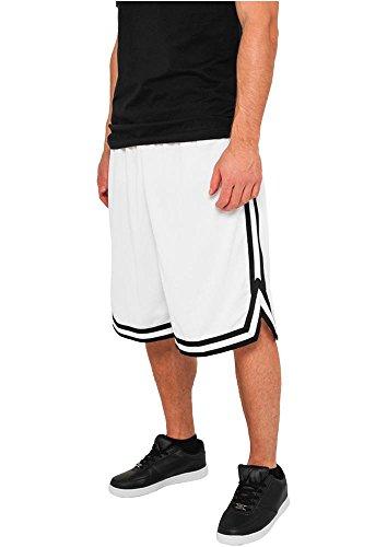 Preisvergleich Produktbild Urban Classics Stripes Mesh Shorts TB243, Farbe:white/black/white;Größe:3XL