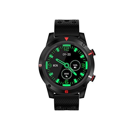 Smartwatch fitness tracker, cardiofrequenzimetro, pressione sanguigna, M26, impermeabile, Bluetooth, cardiofrequenzimetro, GPS Nero