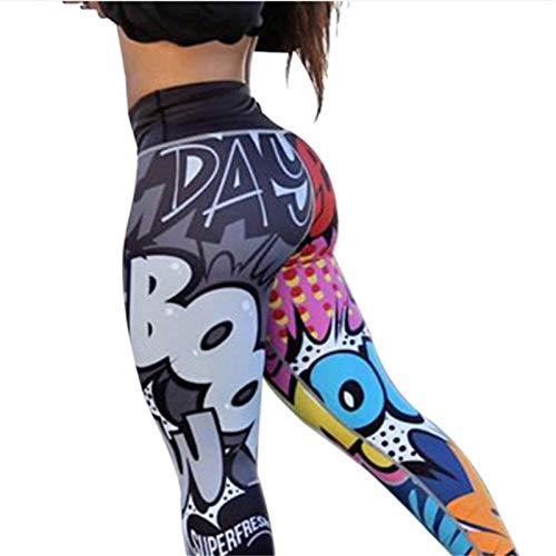 Ayujia Yogahosen Lustige Print Fitness Legging Weibliche Hosen Bodybuilding Athleisure Sportbekleidung Frauen Leggings (Lustige Laufende Kostüme)