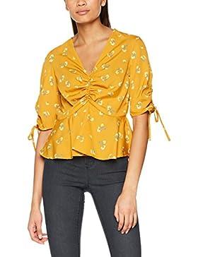 New Look Wow Scarlett Ruffle Peplum, Blusa para Mujer