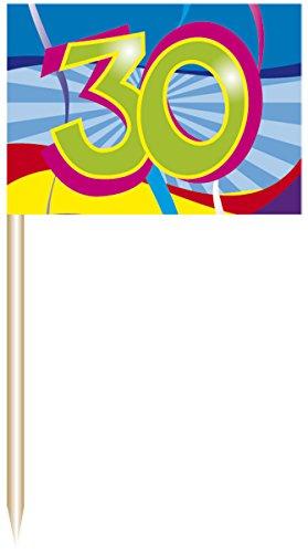 Folat Party-Picker 30. Geburtstag Partyspaß 50er Pack