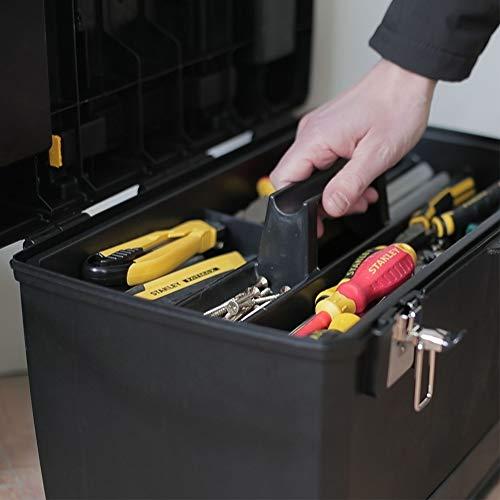 Stanley Rollende Werkstatt / Werkzeugwagen (47.3×30.2×62.7cm, zwei seperat verwendbare Werkzeugboxen, robuster Kunststoff, zwei Einheiten, Metallschließen, Organizer) 1-93-968 - 8