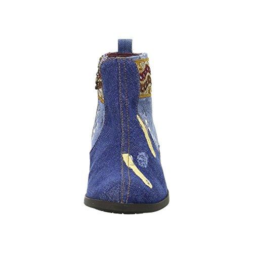 Desigual Denim Patch Boho, Bottes Chelsea Femme Bleu (Jeans 5006)