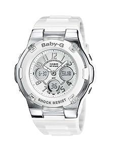 Reloj Casio BABY-G - digital de mujer de cuarzo con correa de resina blanca (alarma, cronómetro, luz) - sumergible a 100 metros de Casio