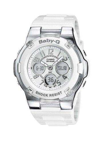 8978bb09a959 Reloj Casio BABY-G - digital de mujer de cuarzo con correa de resina blanca  (alarma