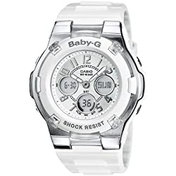 Baby-G Women's Quartz Watch with Analogue Digital Display and Resin Bracelet