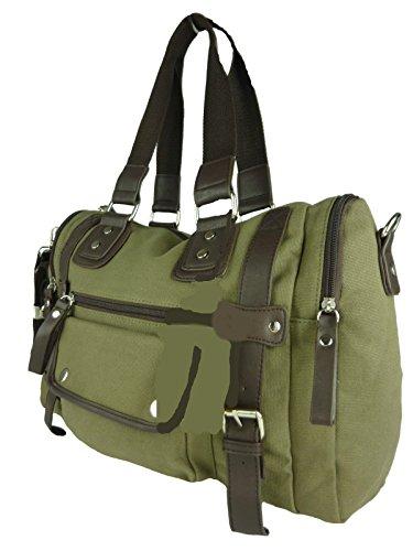 große Stofftasche, viele Fächer, Schulter-Trageriemen, ideal auch als Wickeltasche 43x30x13cm (grün) -