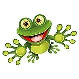 Autocollants; Grenouille, Funny Frog, 15 x 9 cm - kfz_092, pour voiture, camion, Moto, Moped, mobylette, Scooter, véhicules, aux UV et aux intempéries, convient pour lavage