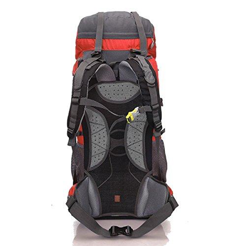 YUEER 65L All'aperto Zaino Alpinismo Grande Capacità Campeggio Viaggio Fitness Sport Multifunzione Borsa A Tracolla,D D