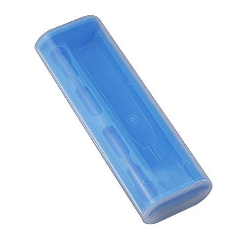 Kunststoff Elektrische Zahnbürste Travel Case, Kunststoff Zahnbürsten Ersatz, der Box Halter für Braun Oral-B Pro 1000/2000/2500/3000/4000Vitality Power Elektrische Zahnbürste, wiederaufladbar blau