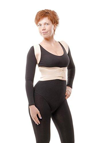 Faja correctora médica ortopédica de soporte de la columna vertebral - Faja cómoda, ajustable y flexible para aliviar el dolor de espalda y corregir la postura de aHeal - Adecuada para mujeres y hombres - Size 4: 100-106 CM; 39-43'