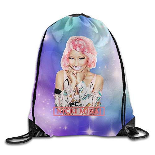 rwwrewre Kordelzug Turnbeutel,Unisex Unisex Nicki Minaj Gym Drawstring Bag Backpack Bags Sports Sack String Backpack Storage Bags for Gym Traveling