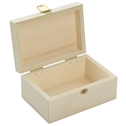 Holzbox mit Deckel - unbehandelt - naturbelassen - Maße: ca. 108 x 73 x 51 mm (BxTxH) - aus Pappsperrholz *** für Schmuck - Schmuckschatulle - Geschenk - Geschenkidee - ideal für Sammler - Spielzeugfiguren - Aufbewahrung u. ä. Sammlerbox, Sammeldose, Spielzeugdose, Spielzeug, Holzkiste, Holzdose, Kaufladen, Holzartikel ***