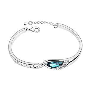 Esung Austrian Crystal With Real Platinum Plated Anti-Allergy Ladies Bracelet...