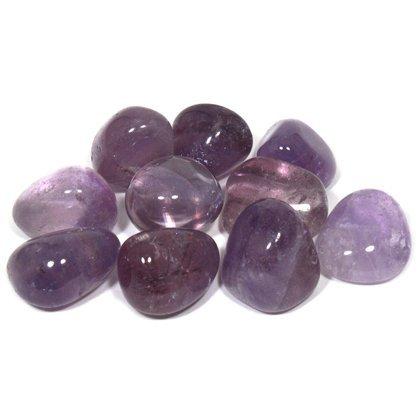 Chevron Amethyst Tumble Stone (20-25mm) 5 Pack